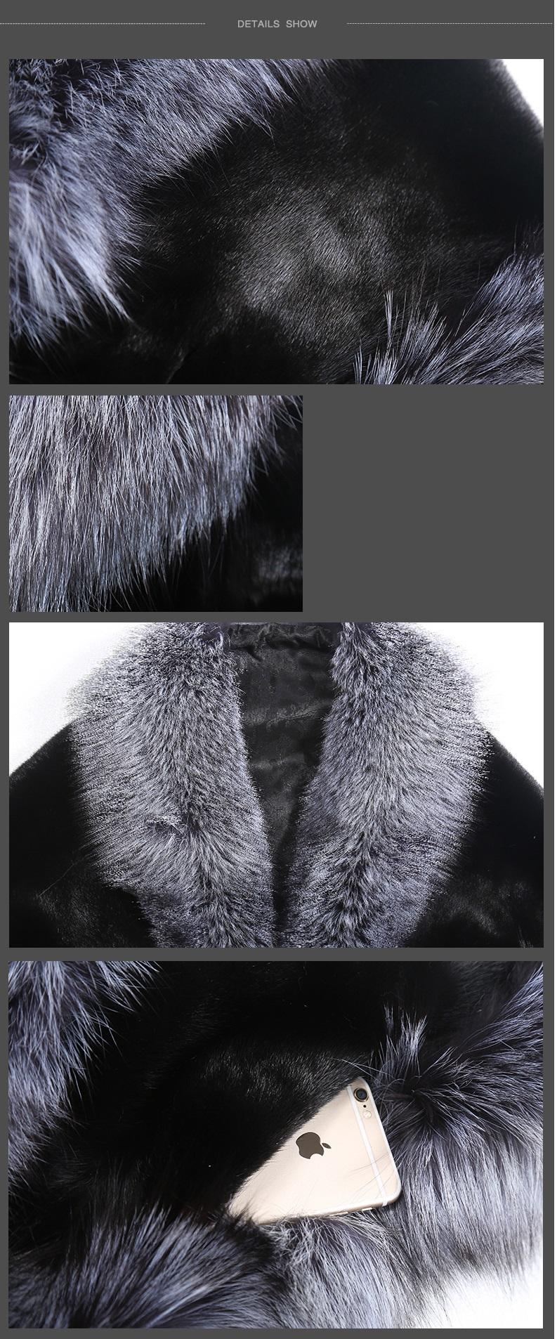 Áo choàng lông chồn cao cấp đẹp 2016