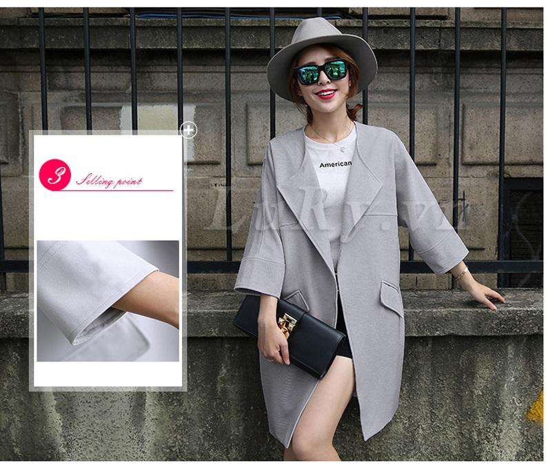 Áo khoác dạ thời trang đẹp 2015