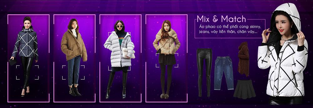 áo khoác phao có thể dễ dàng mix match phối đồ cực chất