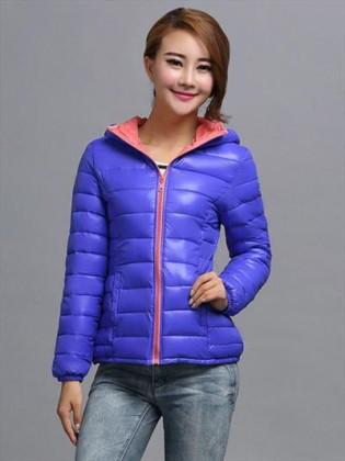 Áo phao nữ Hàn Quốc siêu nhẹ khóa kéo phối màu thời trang TA111