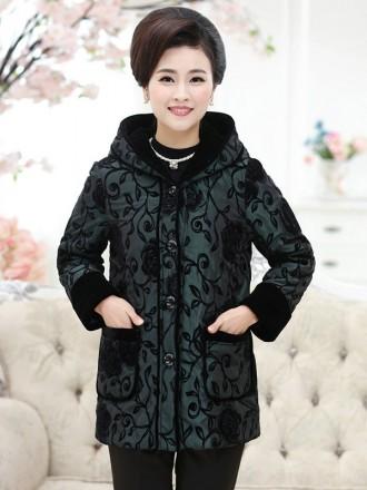 Khoác trung niên HQ đẹp họa tiết hoa hồng đen quý phái  TA407