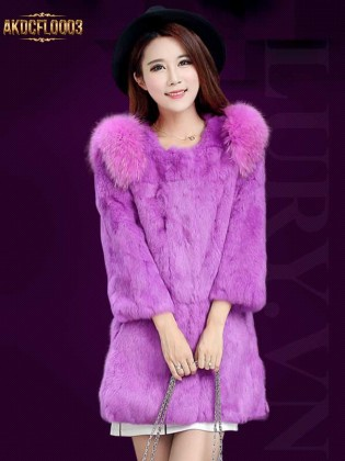 Áo khoác lông thỏ AKDCFL0003