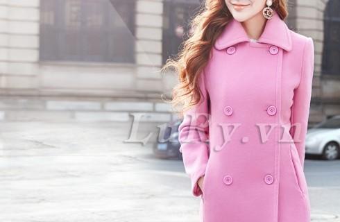 Thời trang áo khoác dạ nữ sang trọng quý phái