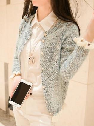 Áo khoác thu thời trang cúc ngọc trai TA138
