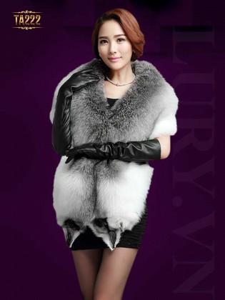 Áo lông chồn cao cấp TA222 (Nâu xám)