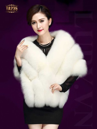Áo lông chồn cao cấp TA235 (Trắng)
