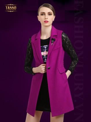 Áo khoác gile dáng dài thời trang TA550