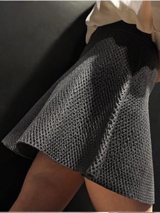 Chân váy chữ A vân nổi đẹp CV601 (Màu ghi)