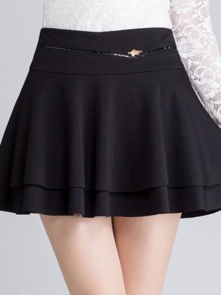 Chân váy xòe 2 lớp đính đá hạt đẹp CV606