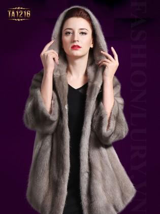 Áo khoác lông có mũ sang trọng,tinh tế TA1216