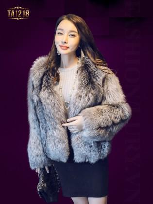 Áo khoác lông dày oversize dáng ngắn sang trọng TA1218