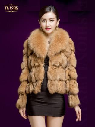 Áo choàng lông HQ dáng ngắn cao cấp TA1285 (Màu caramek)