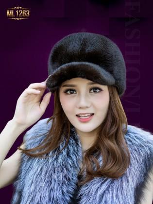 Mũ lông lưỡi trai thời trang nhập khẩu Hàn Quốc ML1263 (Màu cafe)