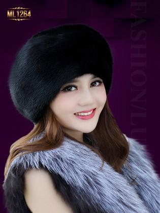 Mũ nồi lông phong cách Hàn Quốc thời trang ML1264 (Màu đen)