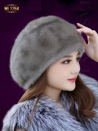 Mũ nồi lông phong cách Hàn Quốc thời trang ML1264 (Màu xám)