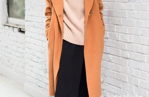 Street style áo khoác dạ nữ phong cách ngày lạnh của giới trẻ Châu Á
