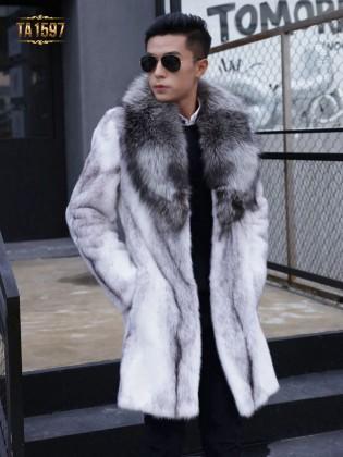 Áo khoác lông thú TA1597  mới 2017 lông tự nhiên dáng oversize nhập khẩu cao cấp