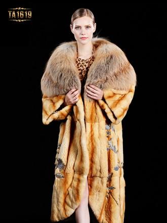Áo khoác lông thú 100%  tự nhiên style oversize họa tiết sang trọng phiên bản độc quyền TA1619