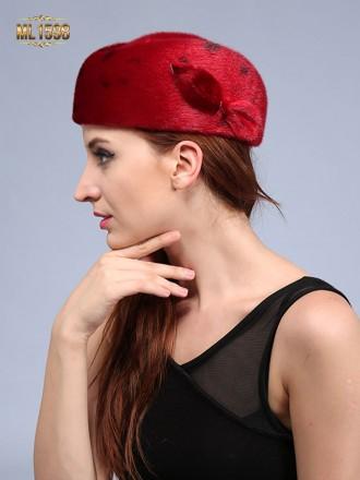 Mũ nồi ML1598 mới 2017 chất lông thú 100% tự nhiên cao cấp (Màu đỏ)