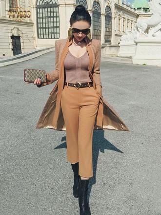 Set áo khoác kèm quần âu TV1683 mới 2017 chất dạ xù thời trang