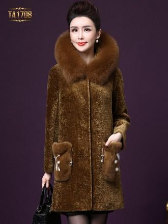 Áo khoác nhung TA1708 mới cổ lông 2 túi cách điệu