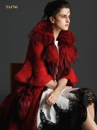 Áo khoác lông  TA1741 cao cấp mới 2019 từ chất liệu lông thú tự nhiên