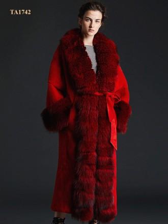 Áo khoác lông TA1742 thời thượng hàng thiết kế độc quyền mẫu mới 2019 (Màu đỏ)