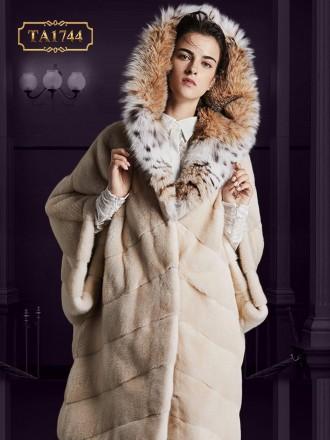 Áo khoác lông thú tự nhiên oversize thiết kế độc quyền mới 2019 TA1744