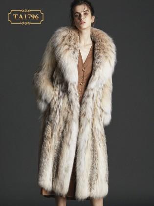 Áo khoác lông thú tự nhiên họa tiết thời trang mẫu mới 2019 TA1796