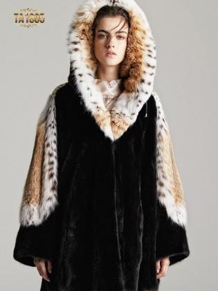 Áo khoác lông TA1805  100% tự nhiên thiết kế giới hạn
