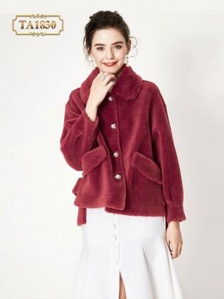 Áo khoác lông nhung dáng ngắn tay bo thời trang TA1830