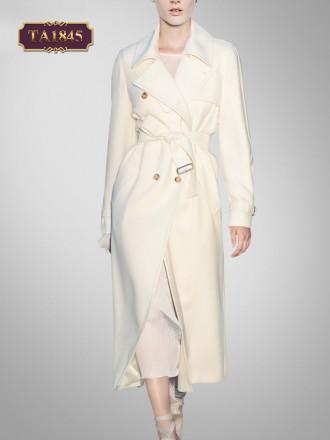 Áo mangto trắng dáng dài cổ vest thời trang TA1845