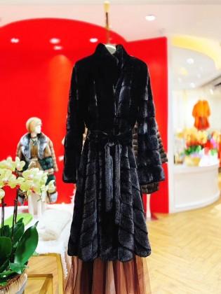Áo khoác lông  tự nhiên cao cấp thiết kế mới nhất 2020 A15