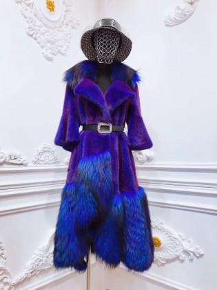 Áo khoác lông tự nhiên cao cấp thiết kế độc lạ A14