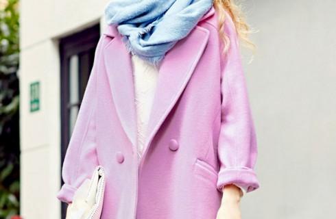Phong cách áo khoác dạ cổ bẻ cá tính trẻ trung