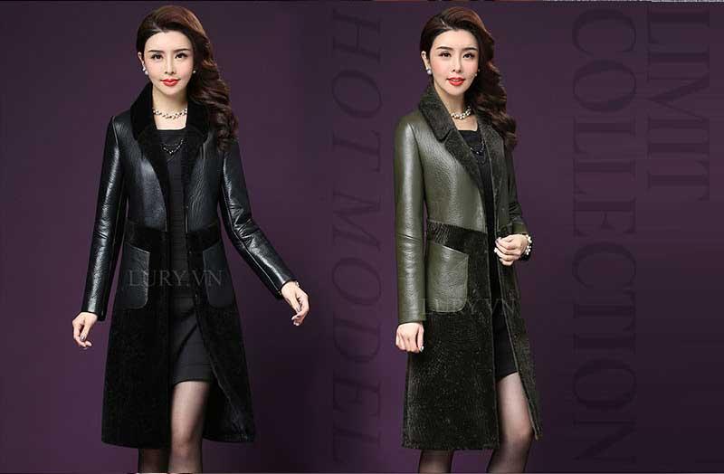 Áo khoác nữ hàng hiệu từ da cao cấp trung bộ sưu tập limit collection của những nhà thiết kế hàng đầu Châu Á