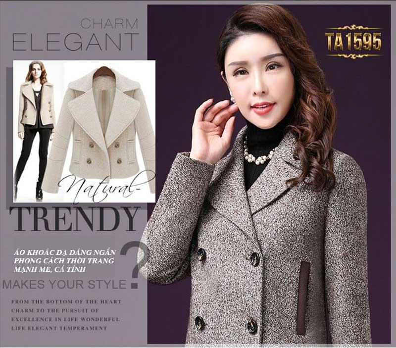 """Áo khoác dạ nữ hàng hiệu dáng ngắn là phong cách thời trang tồn tại """"khỏe"""" qua nhiều mùa mốt"""