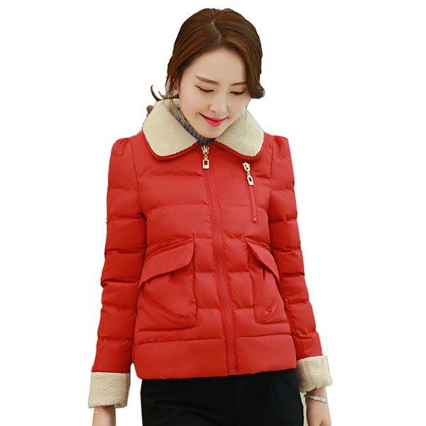 Mẫu áo phao nữ lông cừu hàng xuất khẩu cao cấp, thiết kế thời thượng