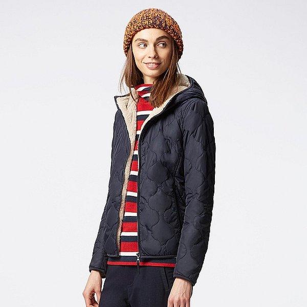 Áo phao lông cừu được bán với mức giá phù hợp với dân công sở