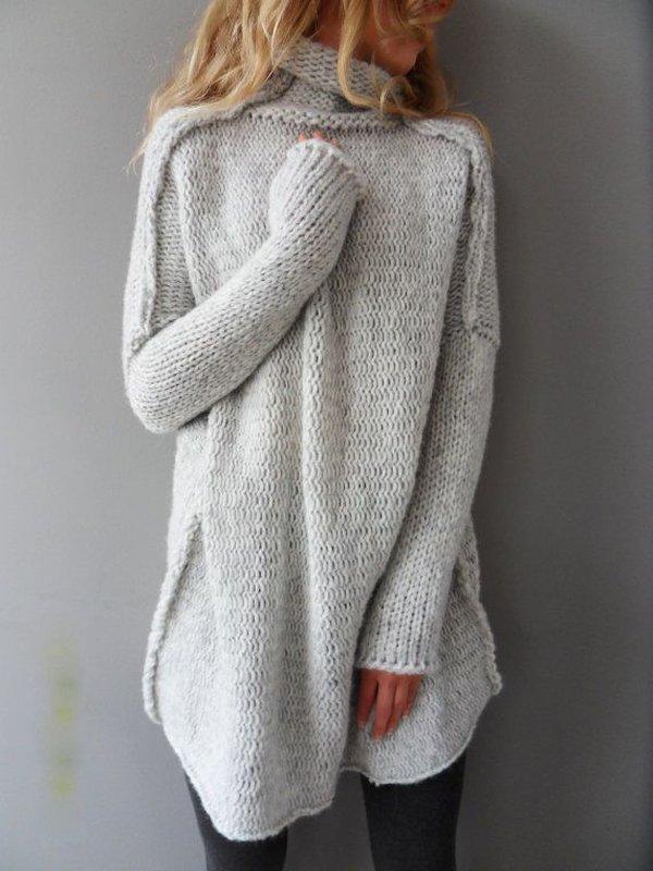 Kiểu áo len nữ dáng dài đẹp
