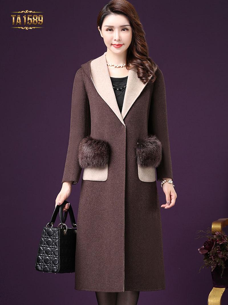 mẫu áo khoác dạ nữ dáng dài đẹp nhất mùa đông
