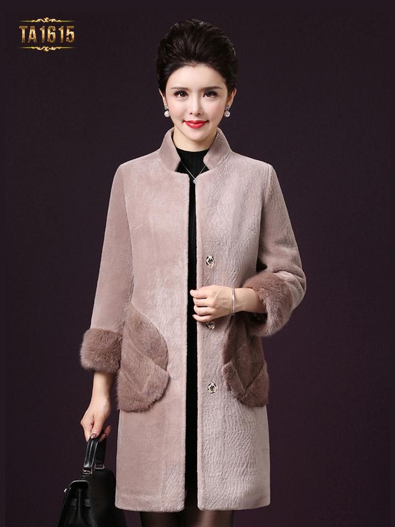 Thời trang áo khoác dạ cổ tàu phối lông cao cấp thể hiện sự đẳng cấp phái đẹp TA1615
