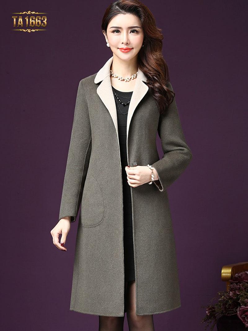 Mẫu áo khoác dạ thời trang gam màu sang trọng, đẳng cấp TA1663