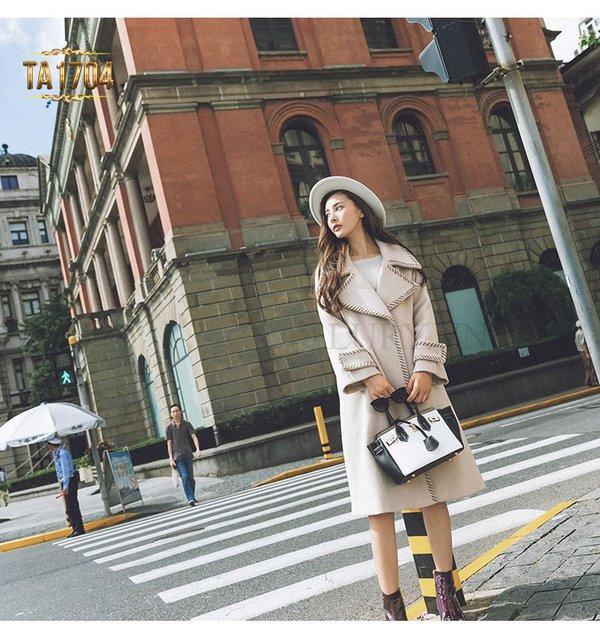 Áo khoác dạ Hàn Quốc dáng dài phong cách oversize chưa bao giờ lỗi mốt