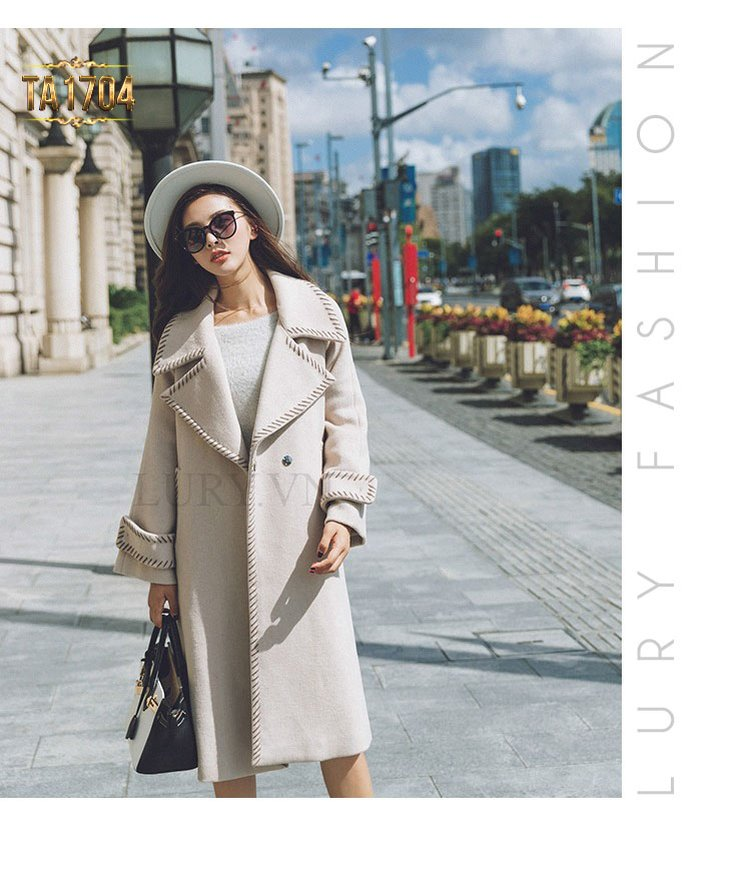 Mang đến sự năng động, nữ tính, trẻ trung cho quý cô sở hữu phong cách áo khoác dạ dáng dài này